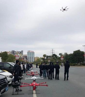 Drone da MMC em prontidão para missões (PRNewsfoto/MicroMultiCopter Aero Technolog)
