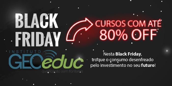 Partiu Black Friday: cursos online com até 80% de desconto. Invista no seu futuro!