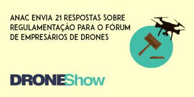 ANAC envia 21 respostas sobre regulamentação para o Fórum de Empresários de Drones