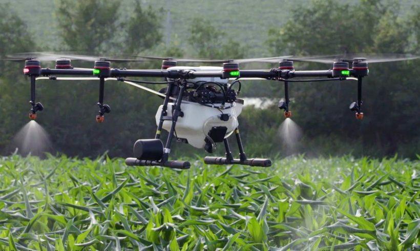 Allcomp apresenta drone de pulverização DJI Agras MG-1P