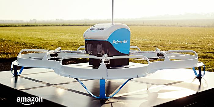 Amazon realiza primeira entrega de forma autônoma com drone