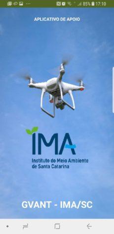 Aplicativo de apoio drone