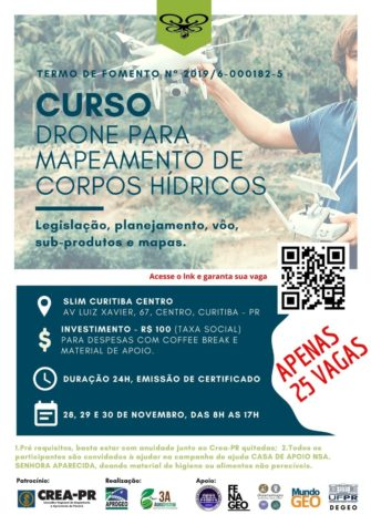 Cursos presencial de Mapeamento com Drone acontece em Curitiba