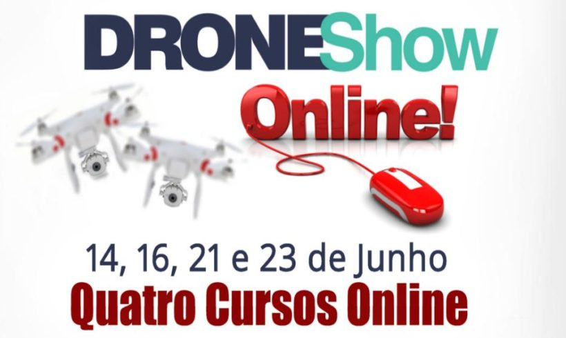 Capacite-se online em cursos de drones dia 23 a 26 de novembro