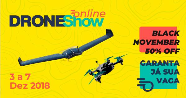 DroneShow Online tem início com seminário e curso de mapeamento