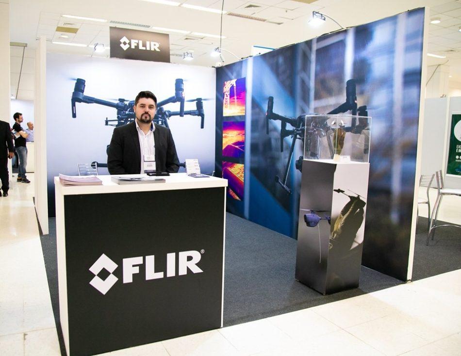 Estande da FLIR na última edição do DroneShow e MundoGEO Connect que aconteceu em maio passado na capital paulista