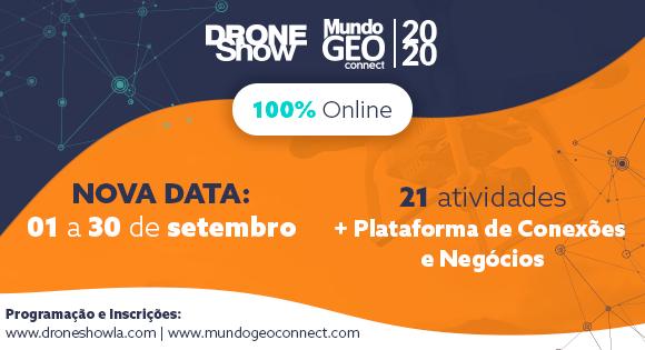 Programação completa: 6 razões para participar na DroneShow e MundoGEO Connect 100% Online