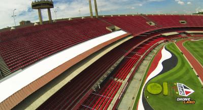 DroneLand fez imagens do Morombi, estádio do São Paulo Futebol Clube