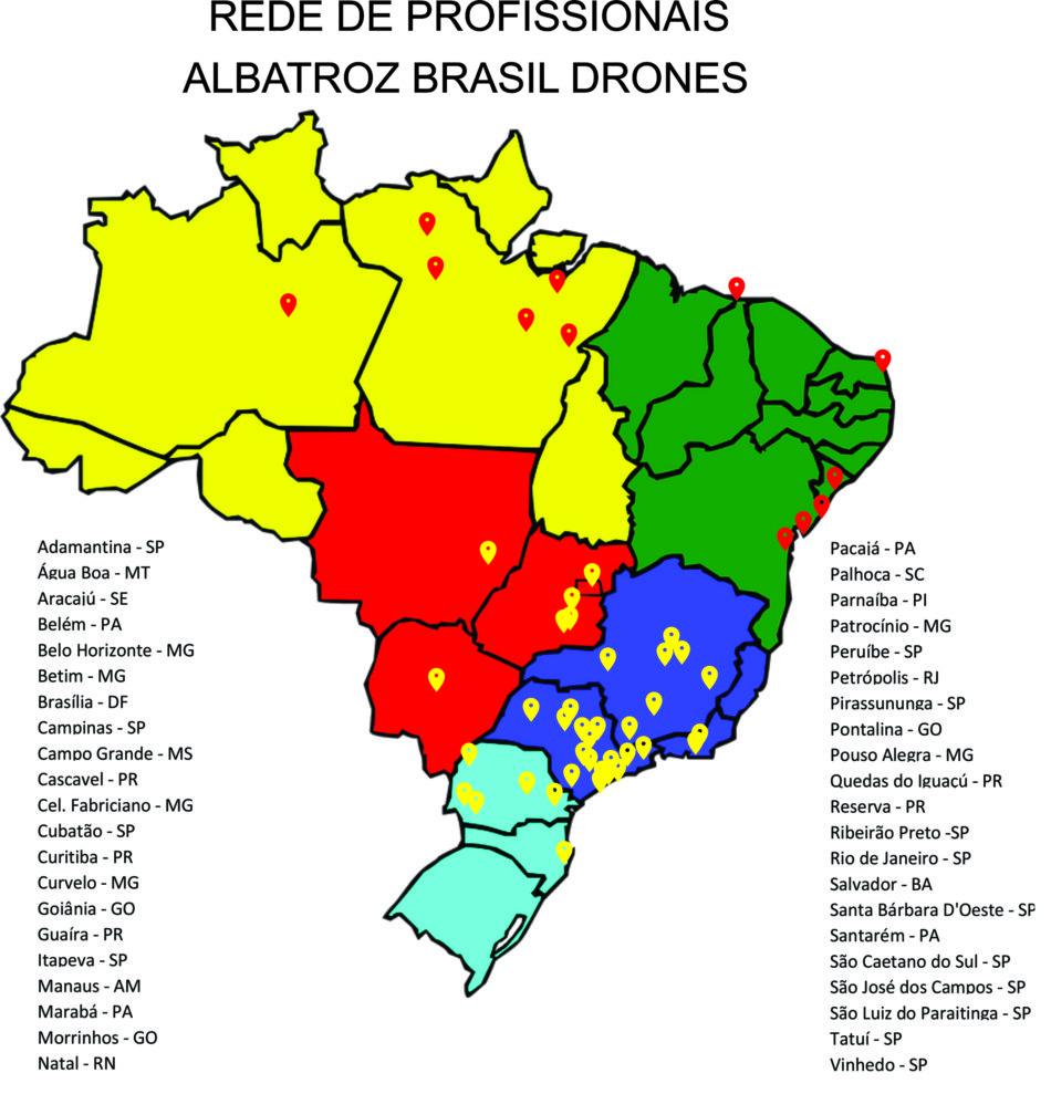Mapa de origem dos profissionais