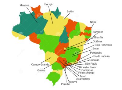 Mapa dos alunos