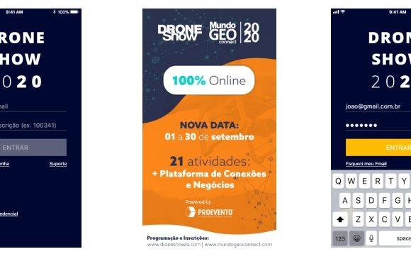 Plataforma de Conexões e Negócios unirá participantes e patrocinadores no DroneShow e MundoGEO Connect 100% Online