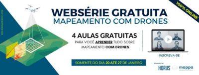 Horus realiza websérie gratuita sobre Mapeamento com Drones