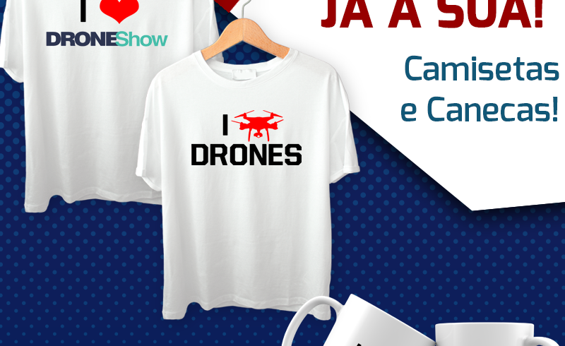 DroneShow lança linha exclusiva de canecas e camisetas. Garanta a sua!
