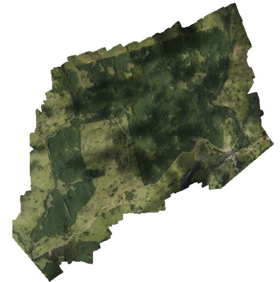 Visão geral da área