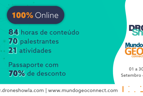 Terceira semana acumula mais de 1.500 inscritos no MundoGEO Connect e DroneShow 2020
