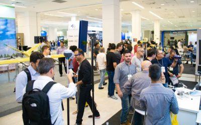 Corredores da última edição da feira DroneShow e MundoGEO Connect