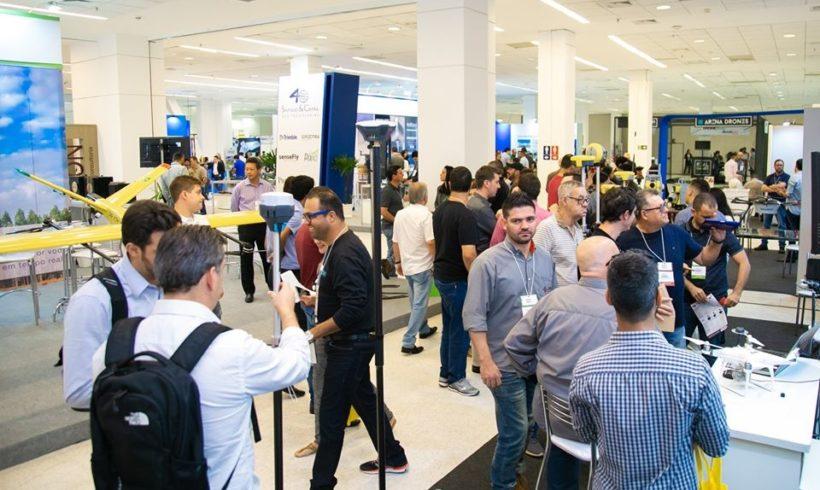 Feira DroneShow e MundoGEO Connect já tem 72% de estandes ocupados
