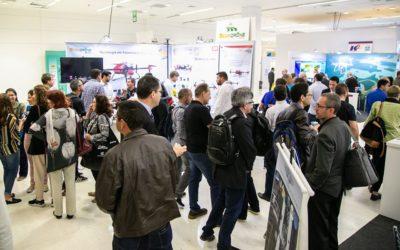 corredores da feira mundogeo connect e droneshow 2019