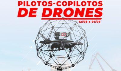 curso pilotos e copilotos de drones