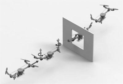 detalhe do drone que muda de forma