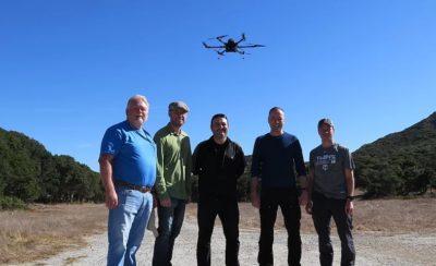 drone com bateria de hidrogenio