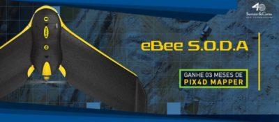 Promoção Santiago & Cintra: senseFly eBee SODA + 3 meses de Pix4Dmapper