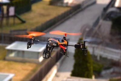 drone em ambiente urbano