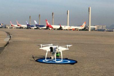 drone no aeroporto do galeao no rio
