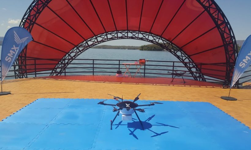 SMX realiza teste inédito no Brasil de entregas usando drones