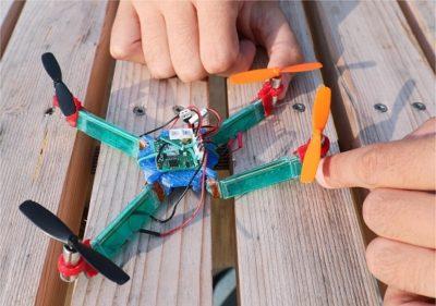 drone que se dobra para não quebrar