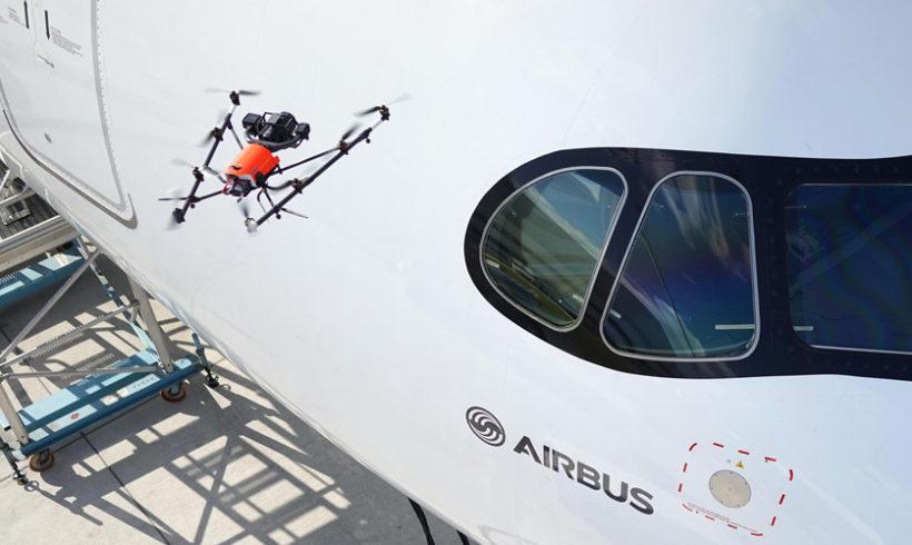 Airbus usa drone para otimizar tempo gasto em inspeção de aviões