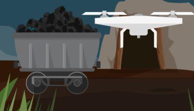 drones na mineracao