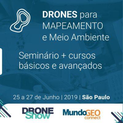drones para mapeamento e meio ambiente 400x400 Mapeamento e topografia com Drones são temas de Seminários e Cursos
