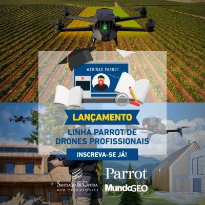 drones parrot para uso profissional 400x400 Webinar apresenta a linha Parrot de Drones Profissionais no Brasil