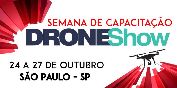 Semana de Capacitação DRONEShow contará com Curso de Topografia com Drones. Saiba mais