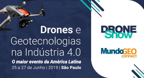 Lançados os sites dos eventos DroneShow e MundoGEO Connect 2019
