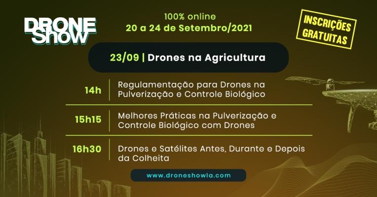 Destaques e replay do quarto dia do DroneShow 2021: Drones na Agricultura