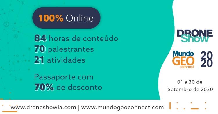 Faltam poucos dias para começar o MundoGEO Connect e DroneShow 100% online