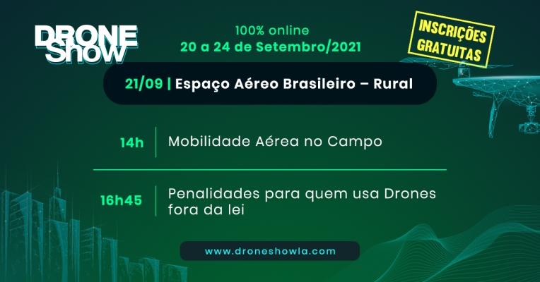 Destaques e replay do segundo dia do DroneShow 2021: Espaço Aéreo Rural