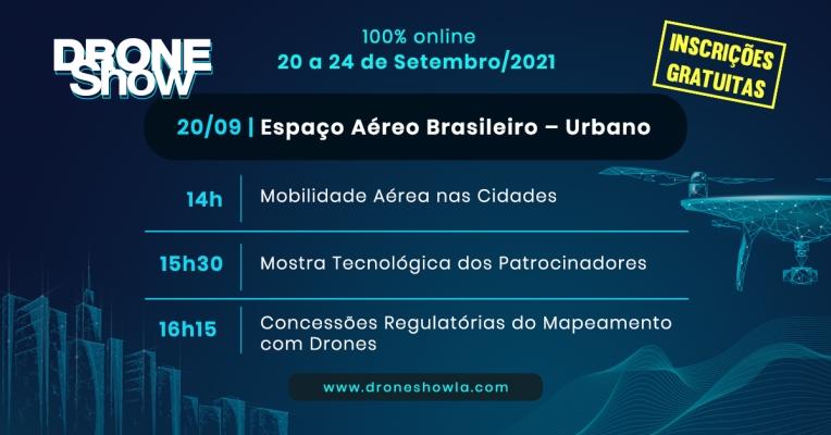Destaques e replay do primeiro dia do DroneShow 2021: Espaço Aéreo Urbano