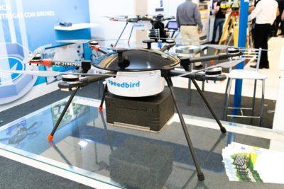 Estande da Speedbird na feira DroneShow 2019, realizada em maio passado na capital paulista