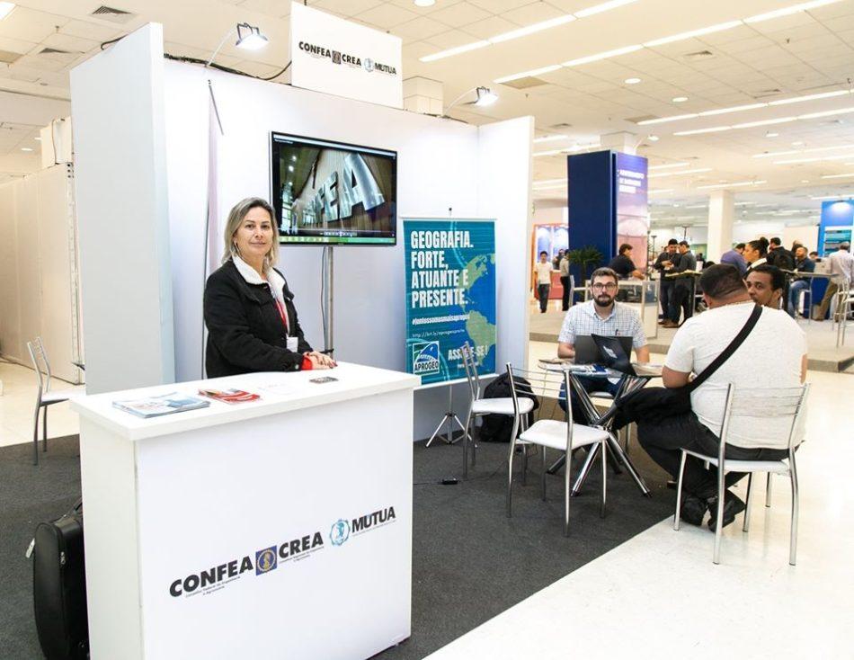 Estande do Confea na última edição do DroneShow e MundoGEO Connect