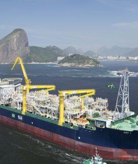 Drone é usado para inspeção de tanques em um FPSO da Petrobras