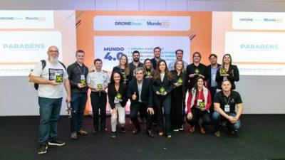 ganhadores dos premios droneshow e mundogeo 2019
