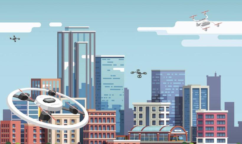 NASA testa gerenciamento de tráfego de drones em ambiente urbano
