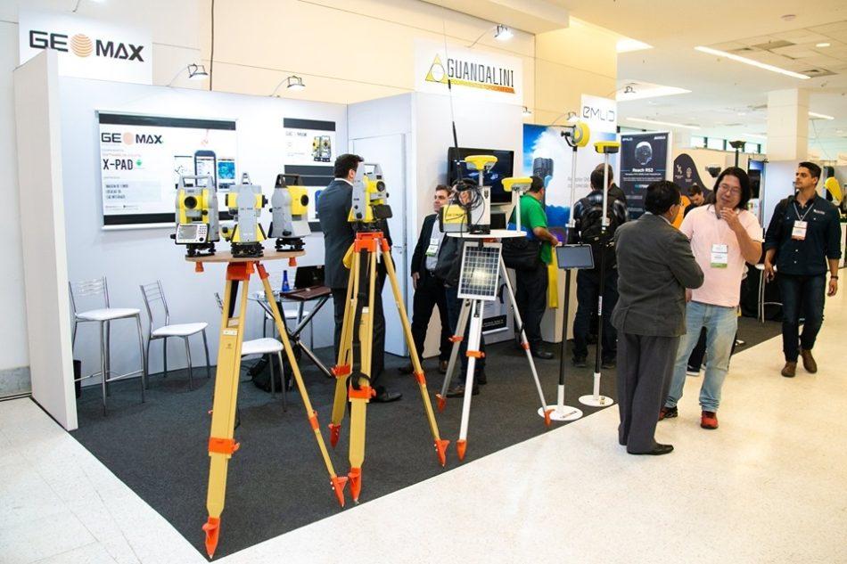 Estande da Guandalini na última edição da feira MundoGEO Connect e DroneShow, em maio passado na capital paulista
