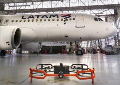 inspecao de aeronave com drone