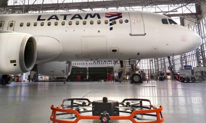 Companhia LATAM testa drone para inspeções de aeronaves