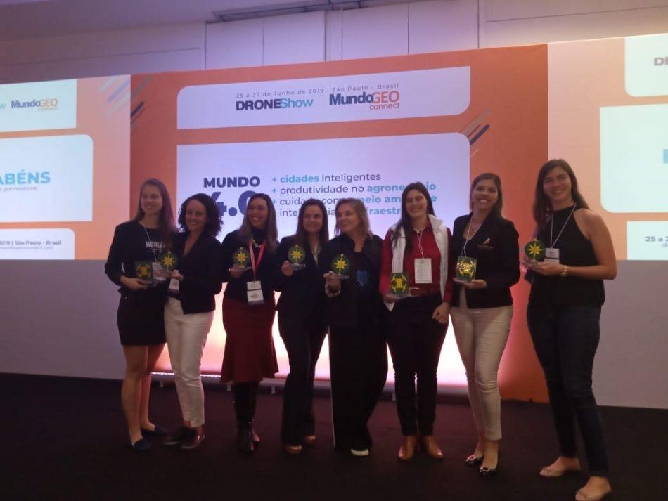 mulheres no premio droneshow e mundogeo 2019