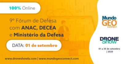 Fórum de Drones dá início às atividades do MundoGEO Connect e DroneShow 2020